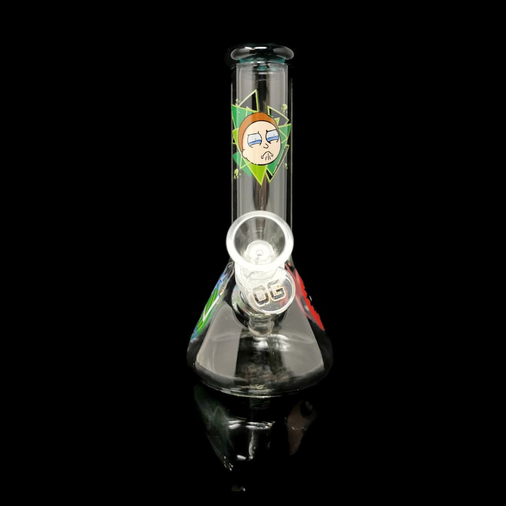 8 Inch Rick and Morty Light Green by OG GLASS