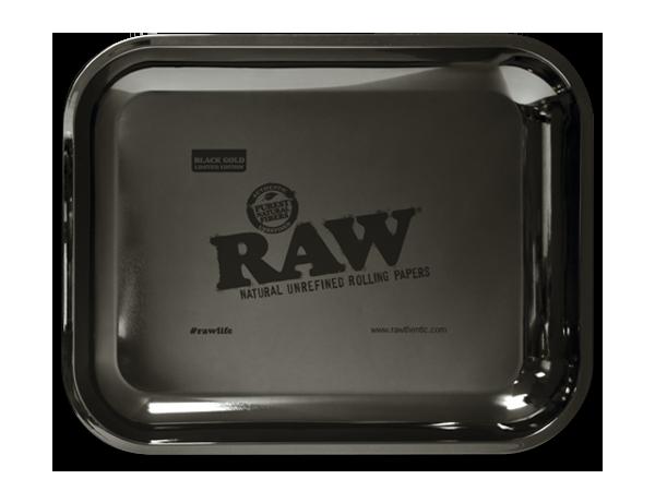 RAW Black Gold Rolling Tray